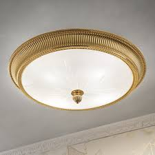 gold ceiling light fixtures luxury italian gold plated flush ceiling light juliettes interiors