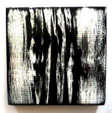 painted wood wall sculpture blocks black white silver modern