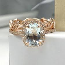 aquamarine wedding shop aquamarine wedding ring set on wanelo