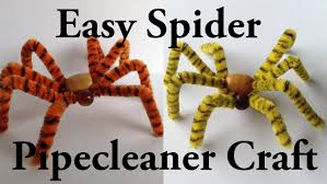 easy pipecleaner spider halloween craft youtube