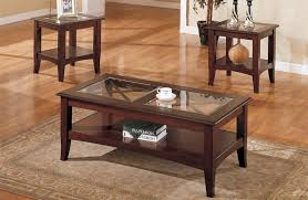 Coffee Tables Sets Terrific Rectangle Glass Top Coffee Table Lovely Decoration All