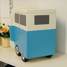 Verditer Blue Personalised Campervan Keepsake Storage Box By Lindleywood