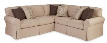 Loveseat Slipcovers With Two Cushions Two Piece Slipcovered Sectional Sofa With Raf Return Sofa By