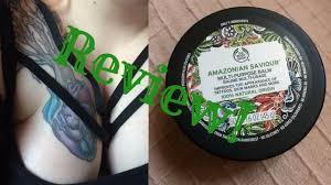 body shop amazonian saviour tattoo balm review cactus skeleton