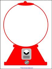 gumball machine subitizing printable