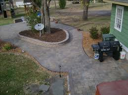 Paver Patios With Fire Pit by Paver Patio With Fire Pit U0026 Integrated Plantscapes Oasis Landscapes