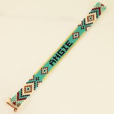 bead weave bracelet images Stylish neon and pastel colored summer quote miyuki bead loom jpg