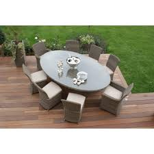 Oval Table Covers Outdoor Furniture by Maze Rattan Garden Furniture Winchester Oval Table U0026 8 Chairs Set