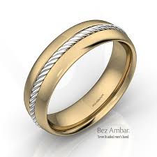 two tone mens wedding bands 18k two tone men gold wedding band