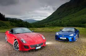 lexus lfa second hand price lexus lfa v ferrari 599 gto in the scottish highlands evo