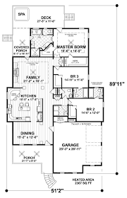ranch house plans cottage narrow lot home with garage best floor