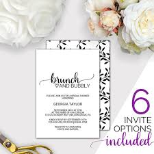 bridesmaid brunch invitations brunch and bubbly bridal shower invitation template printable