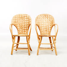 vintage wicker handmade chairs set of 2 for sale at pamono