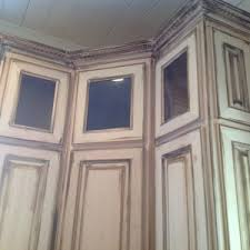 Rustic White Kitchen Cabinets - home decor moveable distressed white kitchen cabinets under windw