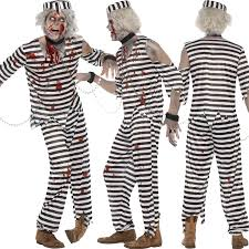 Convict Halloween Costumes Zombie Fancy Dress Costume Halloween Undead