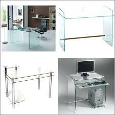 bureau transparent verre mesa escritorio de diseao minimalista