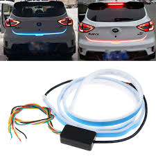 Auto Led Strip Lights by 2 3 Rgb Color Led Car Tail Trunk Tailgate Strip Light Brake Drivin