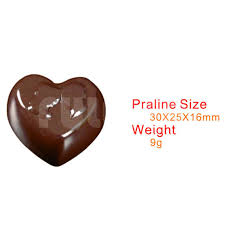 s day chocolate bakeware tools heart shape chocolate polycarbonate mould