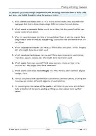 resume word doc formats of poems analysing poetry teachit english