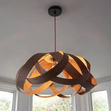 random lights daisy large lampshade walnut wood