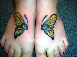 90 cute butterfly tattoos on foot
