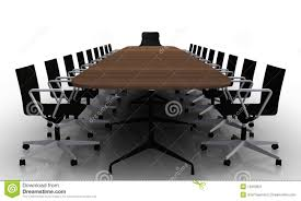 Black Boardroom Table Boardroom Table And Chairs Stock Illustration Image Of Board