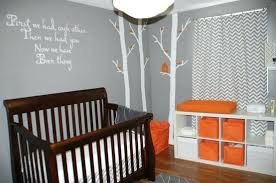 chambre enfant gris deco chambre de bebe daccoration chambre bacbac orange decoration