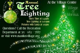 annual tree lighting manlius ny