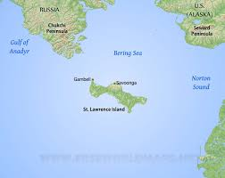 Map Of Russia And Alaska by St Lawrence Island Map