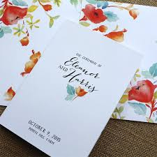 wedding program cover easy wedding program covers