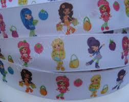 strawberry shortcake ribbon shortcake ribbon etsy