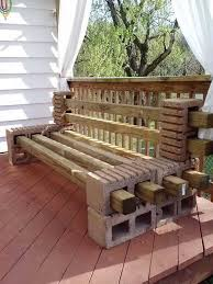 Bench Made From 2x4 How To Make A Bench From Cinder Blocks 10 Amazing Ideas