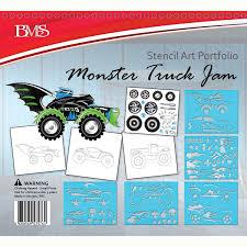 monster truck jam stencil art portfolio u2013 daves deals