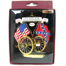 150th cannon rebel flag brass ornament civil war stuff