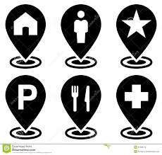 Google Map Icons Objects On Map Icons Set Stock Vector Illustration Of Meal 51398773