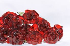 glass roses buy a custom dozen glass roses flower stemmed untamed