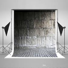 collapsible backdrop kate 5x7ft cotton grey brick wall floor collapsible