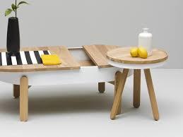 yellow wood coffee table batea s oak coffee table by woodendot