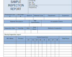 part inspection report template get inspection report template sle microsoft project