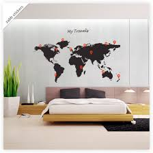 map wall decal globe world my travels and markers vinyl wall map wall decal globe world my travels and markers vinyl wall stickers 17 99