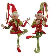 christmas elves christmas in and green costume raz 3202682