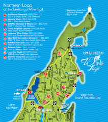Wisconsin Winery Map by Northern Loop Of Leelanau County Wine Trail Northern Michigan