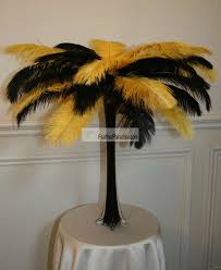 black and gold centerpieces wholesale mix sorted color ostrich feather centerpieces feather