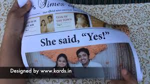 wedding invitation india newspaper indian wedding invitation kards