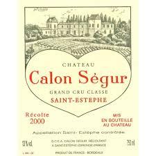 château calon ségur grand cru chateau calon segur 2000 wine