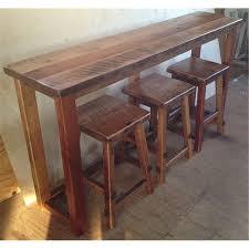 Rustic Pub Table Set Reclaimed Barn Wood Breakfast Bar Set Bar Height