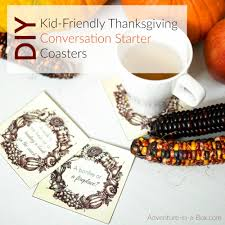 thanksgiving cup thanksgiving conversation starter coasters for kids adventure in