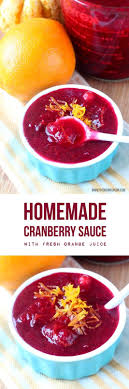 cranberry sauce so you can skip the canned stuff the