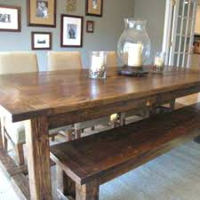farm table with bench diy dining room table bench beginner farm table benches 2 tools in