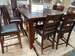 costco dining room sets counter height dining table set costco best gallery of tables